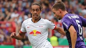 Yussuf Poulsen med fin assist i RB Leipzigs smalle pokalsejr