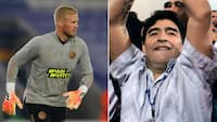Schmeichel hylder Maradona: 'Nok den bedste nogensinde'