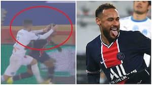 Neymar ydmygede Marseille-spiller - SÅ svarer han igen med sjov kommentar på hævnakten