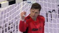 HØJ KLASSE: Landin tager fusen på Leipzig og scorer
