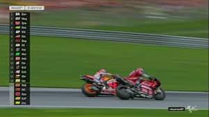Nervepirrende duel: Se alle højdepunkter fra MotoGP i Østrig her
