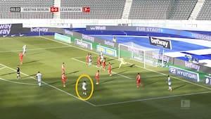 Drømmescoring af Hertha-spiller - den kan ikke sidde bedre!