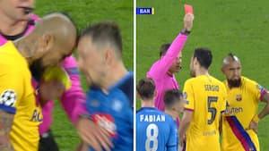 Årets dummeste røde kort i CL? Vidal får to gule kort i SAMME situation