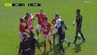 Røde kort og skærmydsler i Ligue 1-kamp - se hændelsen her