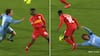 Fantastisk teknik: Kamaldeen forvandler umulig bold til overlegen detalje - Simo og Thygesen elsker det!