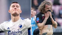 FCK sejrede i derbyet, og FCM satte point til i guldkampen: Se alle rundens mål i 3F Superligaen her