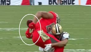 'What, what, what, what just happened?!' - Bucs-tight end laver komisk fumble mod Saints