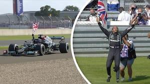 Hamilton vinder vildt drama på Silverstone: Se det uhyggelige crash og gyser-afslutningen her