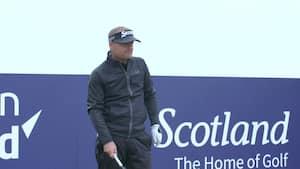 Se Søren Kjeldsen og golfstjernerne forsøge at genskabe legendarisk 'Happi Gilmore'-slag