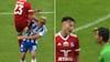 Lyngby-spiller knalder sammen med OB-talent - Tøfting: Det er et hårdt gult kort