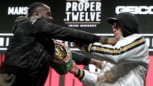 Efter ballade til pressemødet: Wilder og Fury får FORBUD mod at stå ansigt til ansigt før storkamp