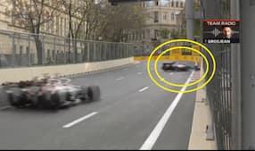 'NO, NO!': Romain Grosjean kører i væggen i katastrofal soloulykke under safety car
