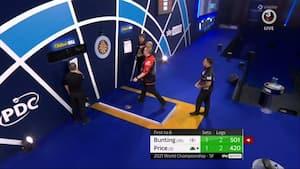 Bunting gør det til 2-1 i semifinalen - se ham sikre sit andet sæt