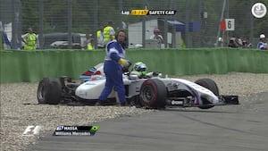 Massa var rasende på Magnussen - Gense det vilde crash mellem de to her