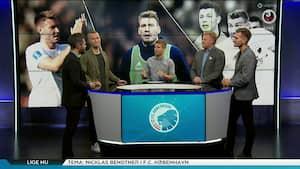 Uenighed i debatten: 'Jeg tror ikke at Bendtner scorer nogen mål'