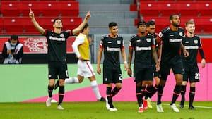 Kampen om CL-pladserne i Bundesligaen spidser til: Leverkusen besejrer Frankfurt