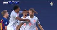 Chokstart for Barca: Müller bringer Bayern foran efter flot kombination med Lewandowski
