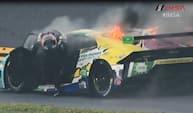 Christina Nielsen flygter ud af brændende racer -  Se de vilde IMSA-øjeblikke fra 2020