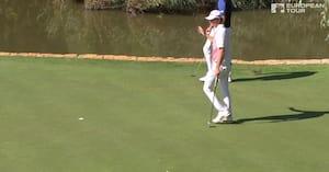 Højgaard kan skrive dansk golfhistorie i dag - se highlights fra 18-årig danskers lørdagsrunde