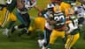 BOOM! McCoy smadrer Packers-runningback lige inden pausen - hør studiet gå amok