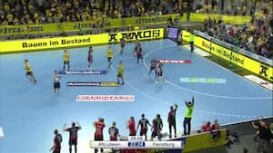 Flensburg tager stor skridt mod det tyske mesterskab med tæt sejr over Rhein-Neckar Löwen – se afslutningen på det dramatiske topopgør her