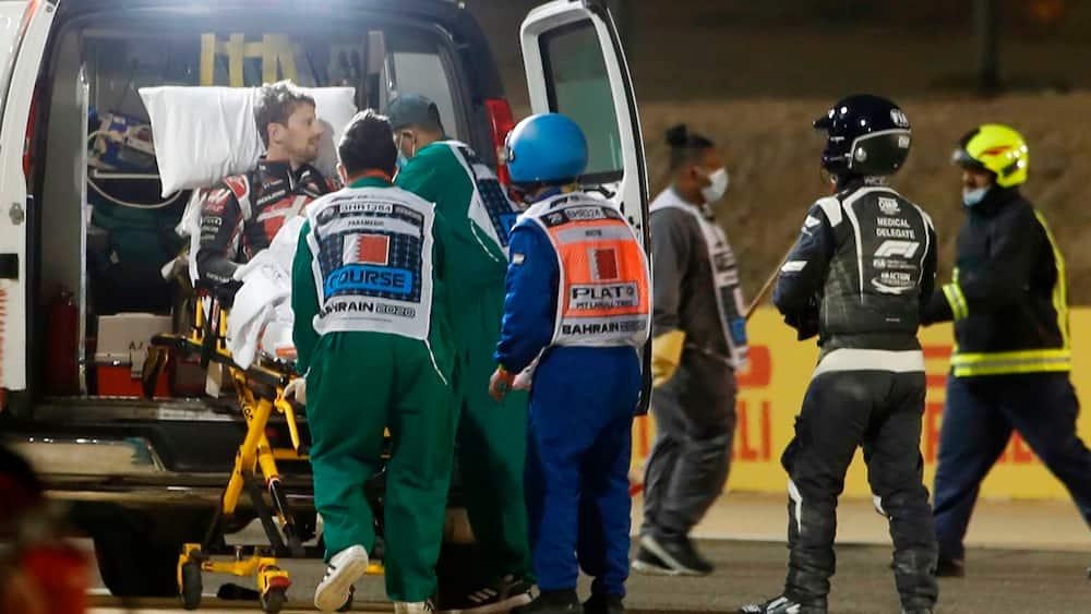Grosjean taler for første gang siden uhyggelig ulykke: 'Jeg er ok - tak til alle hjælperne og lægerne'
