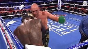 Tyson Fury nedkæmper vaklende Deontay Wilder i vildt boksebrag - se højdepunkter her