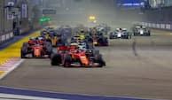 Vild start i Singapore: Kevin Magnussen snupper tre pladser på ingen tid - se det her