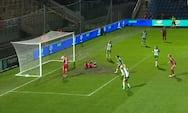 2-0 til Lyon: Helt fri Le Sommer opsnapper løs bold ved bagerste stolpe