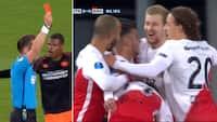 PSV i kæmpe nedsmeltning: To røde kort og 0-3 mod Utrecht - se det hele her