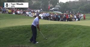 Stjernedrys i Asien og vilde Tiger Woods - se de ti bedste slag fra Shanghai her
