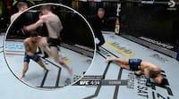 """Årets UFC-knockout efter 28 sekunder - Sandhagen rammer rent med """"flying knee"""""""