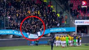 Vanvittige billeder: Hoppende fans får tribune til at kollapse
