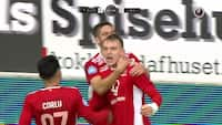 Kaastrup sikrer Lyngby-sejr i Horsens: Se den flotte scoring her