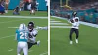 Bliver ramt af monsterhit - tre plays senere scorer han touchdown