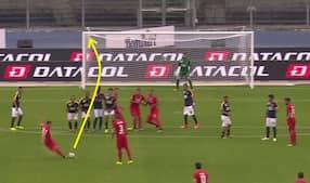 Fabelagtigt frispark for Fiorentina: Fransk Premier League-flop scorer drømmemål i Serie A