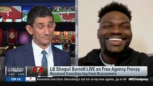 Shaq Barrett kan ikke stoppe med at smile: 'Vi kan gå i Super Bowl med Brady'