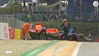 Verstappen og Leclerc udløste røde flag: Se highlights fra fredagens træninger her