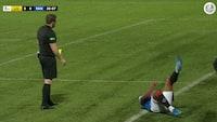 Rasende Gerrard ville have straffe - hans brokkeri gav ham hans andet gule kort