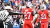 Bizart: Bills-spiller forsøger at aflæse Ravens-taktik midt under kamp