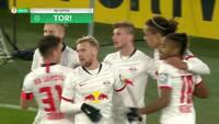 Vanvidskamp i DFB-pokal! Se Yussufs assist og hånd på bolden samt ALLE 7 mål