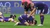 Følelserne får frit løb: Fiorentina spillerne synker sammen efter forløsende sejr
