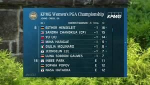 Nanna Koerstz Madsen fører PGA Championship - Du kan se med på Viaplay lige nu