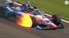 Efter få omgange: IndyCar-dæk eksploderer efter voldsomme flammer - se episoden her