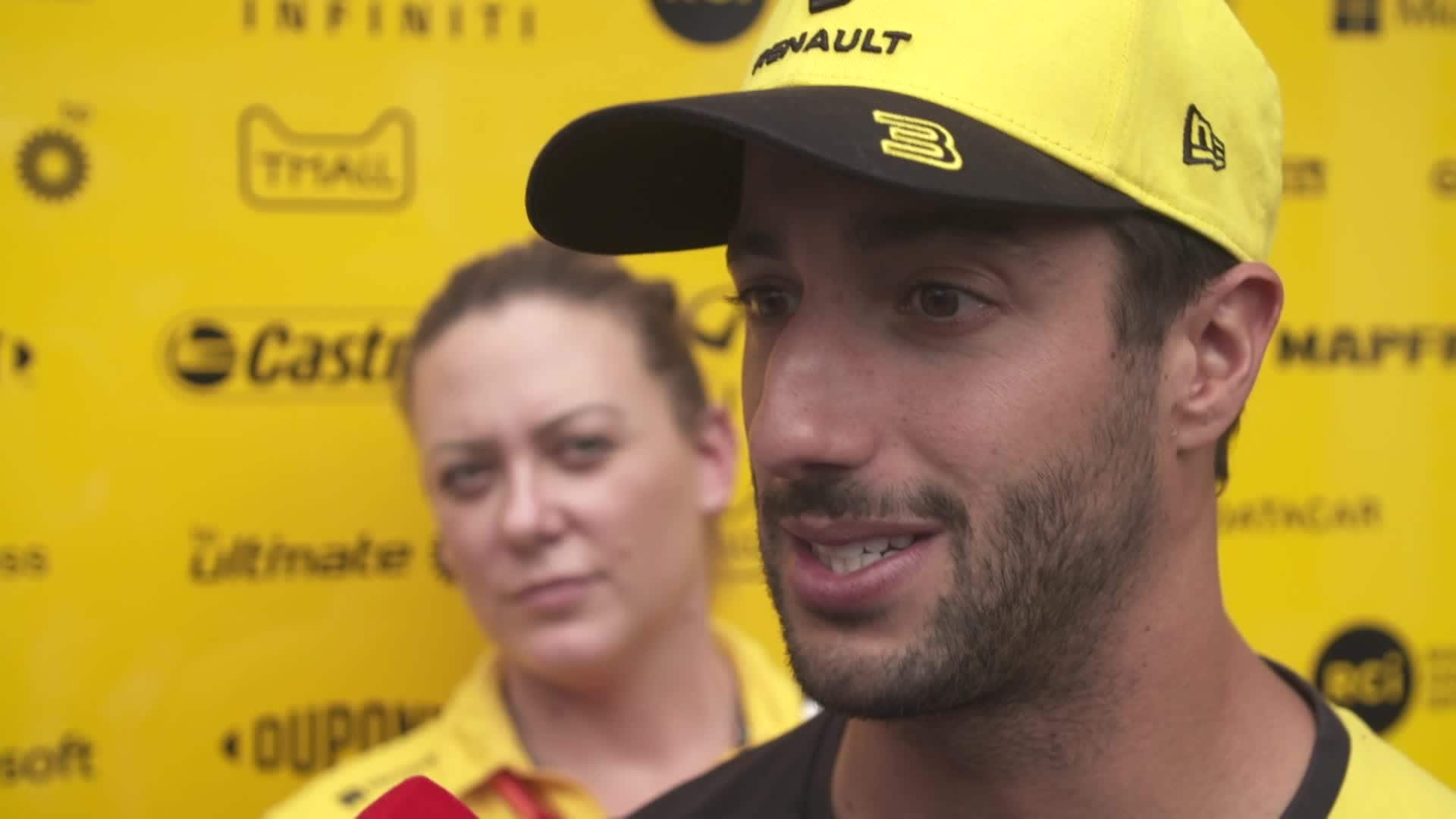 Ømt: Daniel Ricciardo beretter om sit løb med en sang