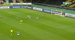 Thorgan Hazard udnytter koks - Dortmund fører 4-0 efter en halv time