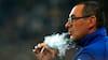SKRÆMMENDE: Så meget ryger Maurizio Sarri om dagen - gense da han var på vej ud for at tage en smøg eller blot var træt af Kepa?