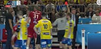 Grim tackling! Veszprém-streg ser rødt i Final Four-semifinale