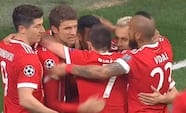 GOOOOOL: Thiago snyder Besiktas-forsvaret - bringer Bayern foran 1-0