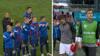 Finske spillere klapper det danske landshold tilbage på banen